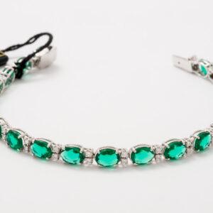 Bracciale con smeraldi